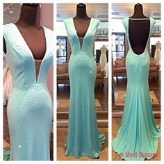 Mint Green Prom Dresses,Backless Evening Gowns,Sexy Formal Dresses,Sexy Prom Dresses,Fashion Evening Gown,Open Backs Evening Dress PD20181416
