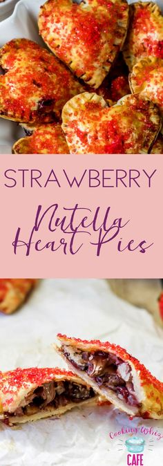 Looking for a delicious and a bit healthier treat to make for Valentine's Day? This Strawberry Nutella Heart Pie is OH so good! #Nutella #ValentinesDay #Nutellapie #NutellaRecipe #baking