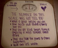 the scale won't tell you ...