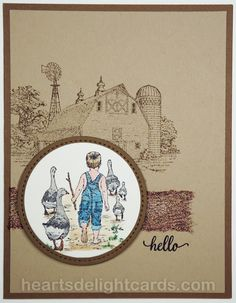 Heart's Delight Cards: Little Country Boys
