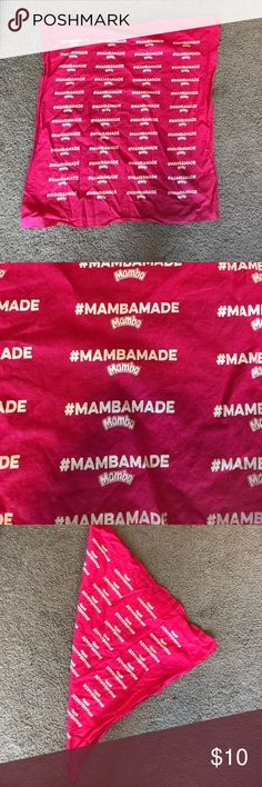 OFFERS ACCEPTED⭐️ PINK MAMBADE BANDANA💓 Excellent condition! I have other bandanas, hair accessories, shoes, swimsuits, pajamas, pants, bags, in my closet if you're interested in bundling to save more! 💙 tagged for views! Perfect for summertime, festivals, concerts, beach, theme party, etc Accessories