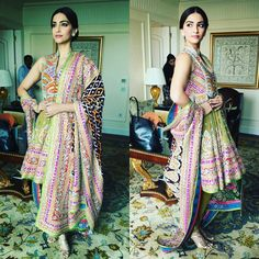 Sonam kapoor. Desi fashion. Prem ratan dhan payo promotion.  Fashion. İndian dress.