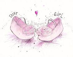 Dior Girl  - Art Print 5x7