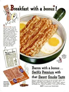 The Ten Most Sizzling, Succulent Old Bacon Ads