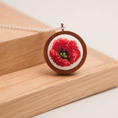 Hey, I found this really awesome Etsy listing at https://www.etsy.com/ru/listing/165343323/hand-embroidered-poppy-necklace