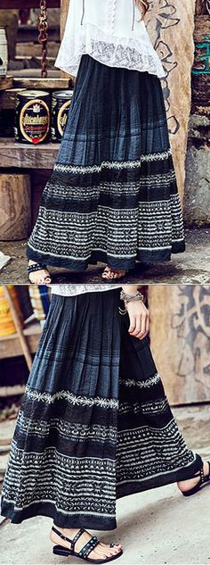 Fall is just around the corner-- do you have the right outfits ready to go? Find the trendiest shirts, skirts, dresses, pants, and more on NewChic. Boho Outfits, Skirt Outfits, Dress Skirt, Cute Outfits, Modest Fashion, Boho Fashion, Womens Fashion, Bohemian Style, Boho Chic