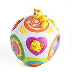 Playfulution Magical Rolling Light and Move Learning Activity Ball with Music. Play Centre, Program Design, Early Learning, Learning Activities, Piggy Bank, Christmas Bulbs, Rolls, Holiday Decor, Music