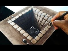Download video: Drawing a Hole - Amazing anamorphic optical illusion