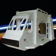 "It would be really difficult to think of any cooler way to sleep than in this awesome space shuttle bunk bed.  It's the perfect way to make up for forgetting to pick up your kids at soccer practice or ""accidentally"" blabbing to their friends about that thumb-sucking thing."