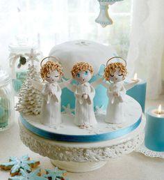 alessandra-frisoni-frisoni-alessandra-st Christmas Cake Designs, Christmas Cakes, Snow Globes, Fondant, Cake Decorating, Xmas, Food Cakes, Xmas Cakes, Santa Cake