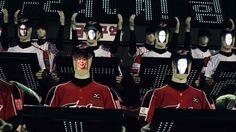 Robot fans for Korea