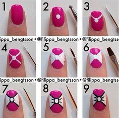 How To Make A Pretty Bow On Nails