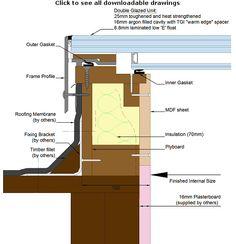 Flush Mount Walk-On Roof skylight