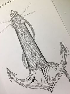 New Drawing Ideas Ink Doodles Ideas New Drawing Ideas Ink Doodles 44 Tattoo Drawings, Body Art Tattoos, Pencil Drawings, Art Drawings, Lighthouse Sketch, Lighthouse Painting, Ocean Drawing, Boat Drawing, Nautical Drawing