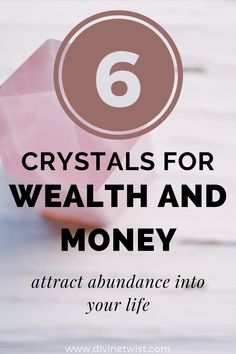 Attract prosperity and success into your life with these 6 crystals for money and wealth. #crystals #abundance Crystal Healing Stones, Stones And Crystals, Healing Gemstones, Crystals For Wealth, Masculine Energy, Lucky Stone, Manifesting Money, Financial Success, Spiritual Life