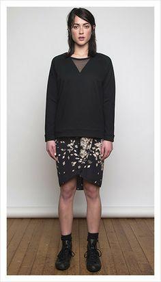mulligan sweater & hinton skirt | winter 2014 collection | juliette hogan