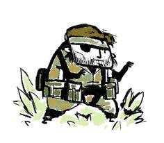 mgs Big boss Big Boss Metal Gear, Metal Gear Solid Series, Metal Gear Games, Gears, Character Art, Video Games, Geek Stuff, Fan Art, Cartoon