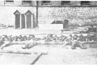 WWII. - 1942. - Croatia / NDH - In the photograph, corpses of victims taken out of water wells at the Lepoglava Camp.