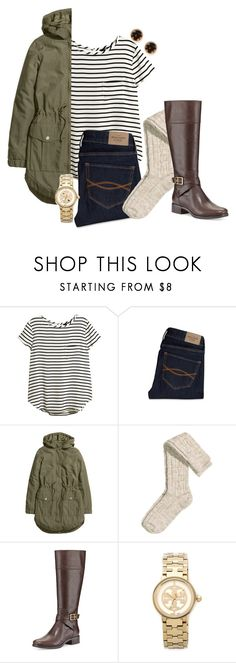 """please come back"" by sunglamourandpreppiness ❤ liked on Polyvore featuring H&M, Abercrombie & Fitch, MICHAEL Michael Kors and Tory Burch"