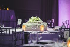 Flowerful Events | September 2014 | Ocean Place Resort & Spa | Avantcore Photography | Low Centerpiece | White Wedding | Flowerful Events