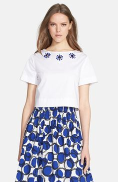kate spade new york embellished crop top available at #Nordstrom