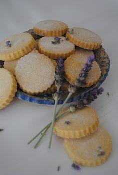 Delicious lavender shortbread