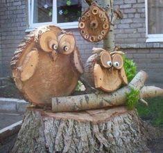 25 Classy DIY Farmhouse Decoration for Fall – Farmhouse Decoration Wood Log Crafts, Wood Slice Crafts, Diy Fall Wreath, Fall Diy, Owl Crafts, Handmade Books, Wood Slices, Wooden Diy, Wood Art