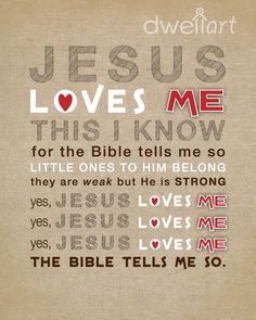 Jesus Loves Me printable