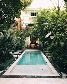 Top Home Design 96 Harmonious Pool Patio Design For The Modern Home 60 Backyard Pool Designs, Small Backyard Pools, Swimming Pools Backyard, Garden Pool, Patio Design, Exterior Design, House Design, Courtyard Design, Modern Exterior