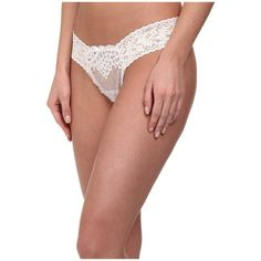 Hanky Panky Dauphine Low Rise Thong Women's Underwear ($30) ❤ liked on Polyvore featuring intimates, panties, low rise thong, bow thong, bridal lingerie, hanky panky lingerie and bridal thong