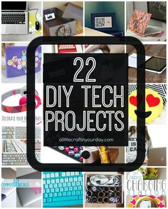 Check out these fantastic #DIY tech themed projects! Perfect for the techie in your life. http://www.alittlecraftinyourday.com/2015/06/01/22_diy_tech_projects/?utm_content=buffercc8a4&utm_medium=social&utm_source=pinterest.com&utm_campaign=buffer