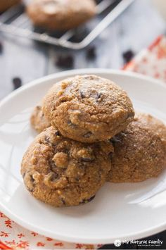 Pumpkin Cookies with Chocolate Chips (Paleo, Gluten Free, Clean, Dairy Free)