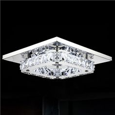 Free Shipping Modern Led Ceiling Lights Ceiling Lamp Flush Mount Crystal Light 90-265V Surface Mounted Hallway Bed Room Light #Affiliate