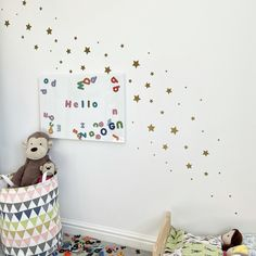 Stars Wall Stickers (mixed sizes) - Turquoise