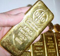 Union Bank of Switzerland 1 Kilo Gold Bar.  Worth around $ 55,000 in 2013.  http://www.coinandbullionpages.com/gold-bullion-bars/1-kilo-gold-bar.html