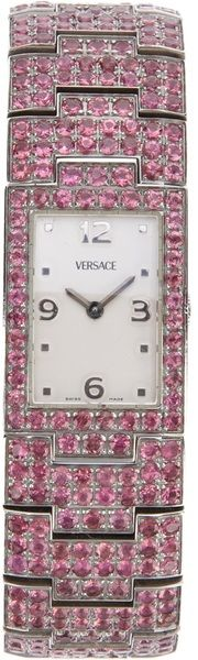 Versace Greca Diamond Watch - Pink - Lyst