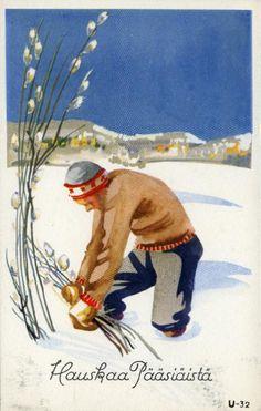 Hauskaa pääsiäistä #pääsiäinen #easter #kortit #cards #pajunkissat #talvi #lumi #miehet Easter, Painting, Fictional Characters, Art, Craft Art, Painting Art, Kunst, Paint, Draw