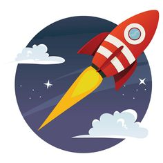 Rocket Hike Wall Decal,