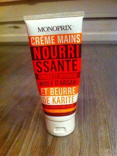 Tout bête et super crème pour les mains : la crème nourrissante Monoprix, à l'huile d'Argan et au beurre de Karité