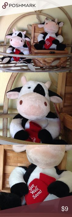 Get Well Cow ( ouchies Patch) This sweet little cow has a hot water bag/bottle that reads get well soon! A cute little pick me up, for someone not feeling well! Other