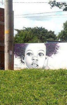 Arte de rua no Rio de Janeiro. Autor desconhecido.