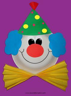 Pagliaccio realizzato con un piatto di carta ideale per addobbare l'aula di scuola. MASCHERE CON PIATTI DI CARTA Lavoretto Carnevale Materiale: cartoncini colorati piatto di carta piano pennarello ...