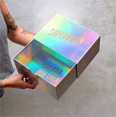 Packaging Holographic Design: Most Cool and Mesmerizing Graphics - Indieground Design # Clever Packaging, Foil Packaging, Food Packaging Design, Print Packaging, Packaging Design Inspiration, Packaging Ideas, Coffee Packaging, Bottle Packaging, Luxury Packaging