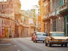 Havana Havana, Caribbean building road outdoor street color way transport Town neighbourhood lane sidewalk City urban area scene human settlement vehicle cityscape infrastructure Downtown residential area alley travel pedestrian