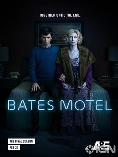 New posters for Bates Motel season 5 highlight the unbreakable bond between Norman (Freddie Highmore) and Norma Bates (Vera Farmiga). Bates Motel Season 5, Motel Bates, Bates Motel Tv Show, Bates Hotel, Max Thieriot, Norman Bates, Teaser, Freddie Highmore Bates Motel, Trailer Song