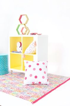 Chalk paint can be modern! Use it to create this Modern Ikea Hack Shelf with DecoArt Chalk Paints. Thick coverage means one coat and quick results!