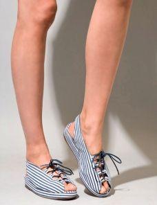 stripe mini platform sandals $110