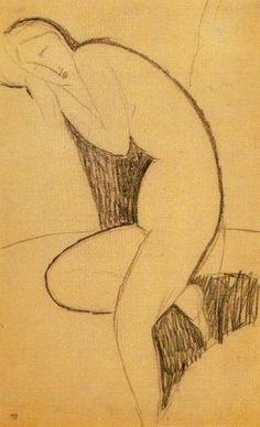 During his early years in Paris, Modigliani worked at a furious pace. He was constantly sketching, making as many as a hundred drawings a day. However, many of his works were lost—destroyed by him as inferior, left behind in his frequent changes of address, or given to girlfriends who did not keep them.[24]