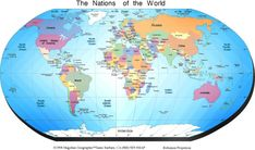 World Map Of Continents World Map Continents Country Cities Maps Within World Map With Continents Image X World Map Continents, Continents And Countries, Free Printable World Map, Printable Maps, Printables, Hawaii On World Map, Blank World Map, World Political Map, World Map With Countries
