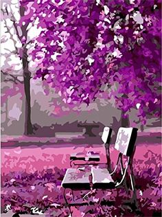 Kids' Paint By Number Kits - Diy oil painting paint by number kit Wait for romance 1620 inch *** Check out the image by visiting the link.